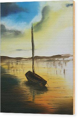 Abandoned Waters Wood Print by Rafay Zafer