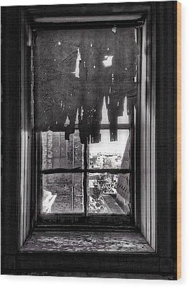 Abandoned Window Wood Print