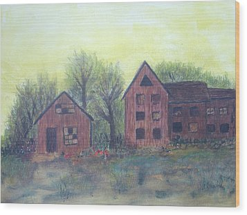 Abandoned Wood Print by Andrea Friedell