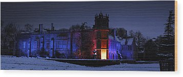 Abbey At Night Wood Print