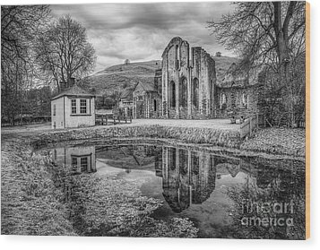 Abbey Reflections Wood Print by Adrian Evans