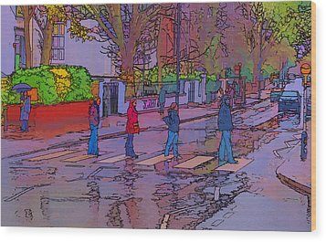 Abbey Road Crossing Wood Print by Chris Thaxter