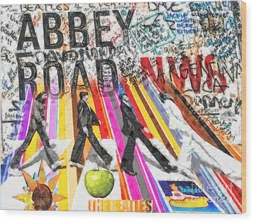 Abbey Road Wood Print by Mo T