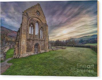 Abbey Ruins Wood Print by Adrian Evans