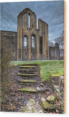Abbey Steps Wood Print by Adrian Evans