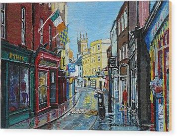 Abbey Street Ennis Co Clare Ireland Wood Print by Tomas OMaoldomhnaigh