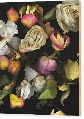 Abbey's Flowers Wood Print by Peter Ciccariello