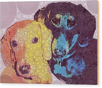 Abby And Simon Wood Print by Cindy Edwards