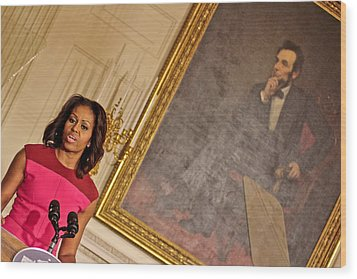 Abe...and The First Lady Wood Print by Douglas Adams
