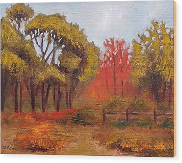 Wood Print featuring the painting Abeel Fields by Jason Williamson