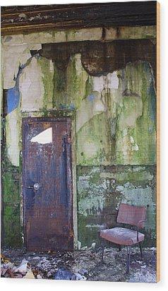 Aberdeen Chair Wood Print by Suzanne Lorenz