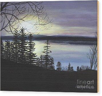 Aberdeen Sunrise Wood Print