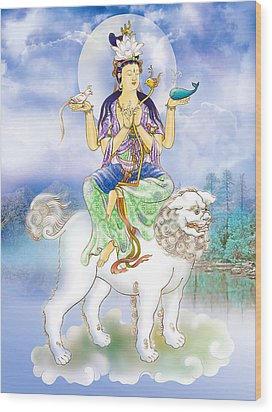 Wood Print featuring the photograph Abhetri Kuan Yin  by Lanjee Chee