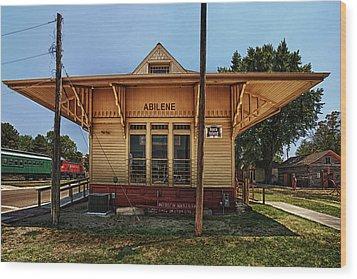Abilene Station Wood Print