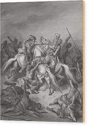 Abishai Saves The Life Of David Wood Print by Gustave Dore