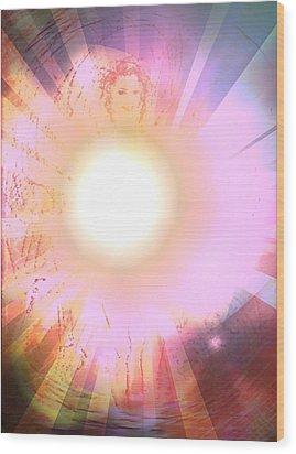 Ablaze Wood Print by Desline Vitto