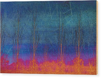 Ablaze II Wood Print by Jan Amiss Photography
