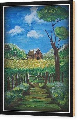 Abode Wood Print by Juna Dutta