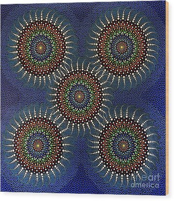 Aboriginal Inspirations 16 Wood Print by Mariusz Czajkowski