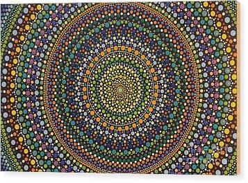 Aboriginal Inspirations 28 Wood Print by Mariusz Czajkowski