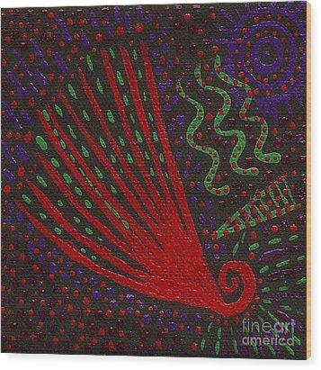Aboriginal Vibes Wood Print by Vicki Maheu