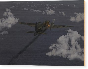 Above And Beyond - Jimmy Ward Vc Wood Print by Gary Eason
