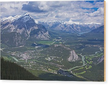 Above Banff Wood Print