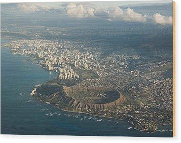 Wood Print featuring the photograph Above Hawaii by Georgia Mizuleva