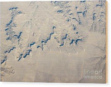 Above Kansas Windmills Wood Print by Darleen Stry