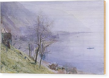 Above Montreux Wood Print by John William Inchbold