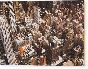 Above New York City Wood Print by Vivienne Gucwa