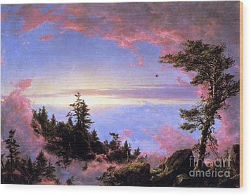 Above The Clouds At Sunrise By Frederick Edwin Church Wood Print