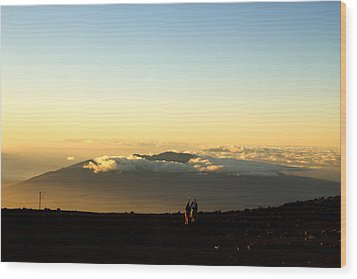 Wood Print featuring the photograph Above The Clouds by Cathy Donohoue
