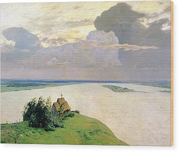 Above The Eternal Peace Wood Print by Isaak Ilyich Levitan