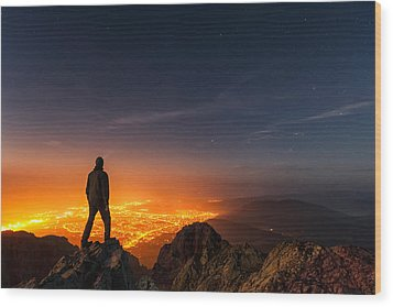 Above The Night Wood Print by Evgeni Dinev