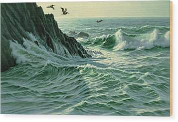 Above The Surf Wood Print by Paul Krapf