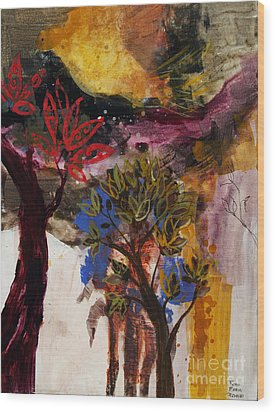 Above The Tree Tops Wood Print by Robin Maria Pedrero