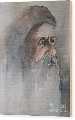 Abraham Wood Print by Annemeet Hasidi- van der Leij