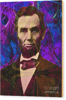 Abraham Lincoln 2014020502m118 Wood Print by Wingsdomain Art and Photography