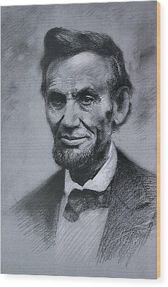 Wood Print featuring the drawing Abraham Lincoln by Viola El