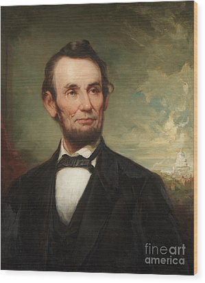 Abraham Lincoln  Wood Print by George Henry Story
