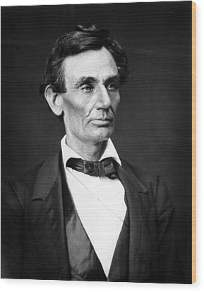 Abraham Lincoln Portrait Wood Print by Anonymous