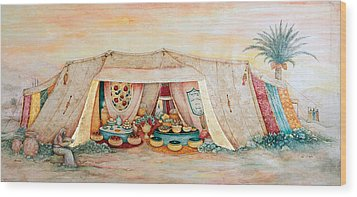 Abraham's Tent Wood Print by Michoel Muchnik