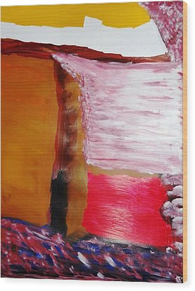 Absence Wood Print by Fatiha Boudar