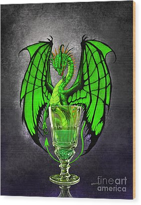 Absinthe Dragon Wood Print by Stanley Morrison