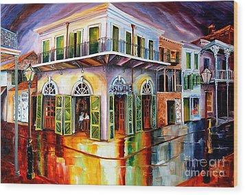 Absinthe House New Orleans Wood Print by Diane Millsap