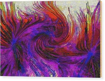 Absrtact Art - 1 Wood Print