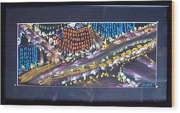 Absrtract Traffic Wood Print by Joseph Hawkins