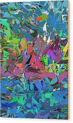 Wood Print featuring the digital art Abstract 011515 by David Lane
