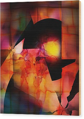 Wood Print featuring the digital art Abstract 012615 by David Lane